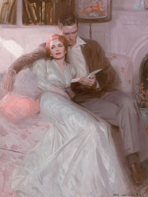 Back Come The Bride Ladies Home Journal 1944. Tom Lovell