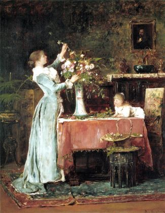 Munkácsy_Woman_Arranging_Flowers_1881-1882